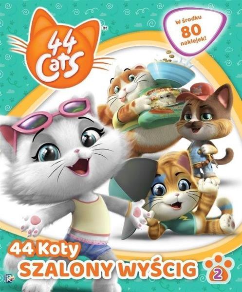 44 cats. Książka activity cz 2 Szalony wyścig