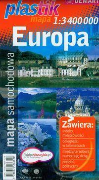Europa mapa samochodowa 1:3 400 000