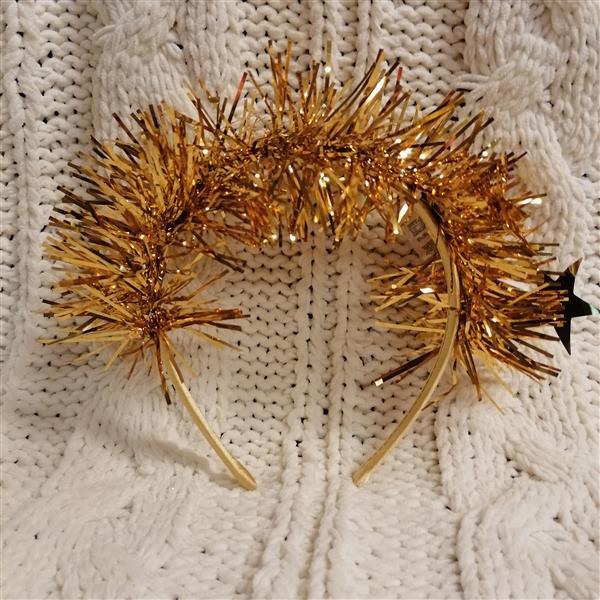 Markowa opaska na włosy Sinsay złota