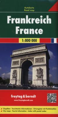 FRANCJA MAPA 1:800 000outlet