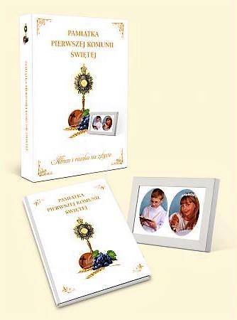 Pamiątka Komunii Świętej z ramką