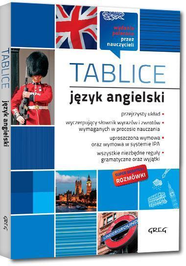 TABLICE JĘZYK ANGIELSKI  outlet