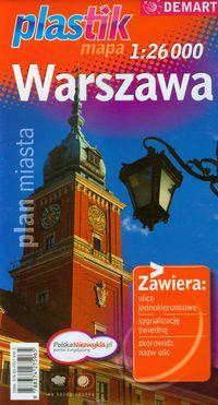 Warszawa - plan miasta - plastik mapa 1: 26 000