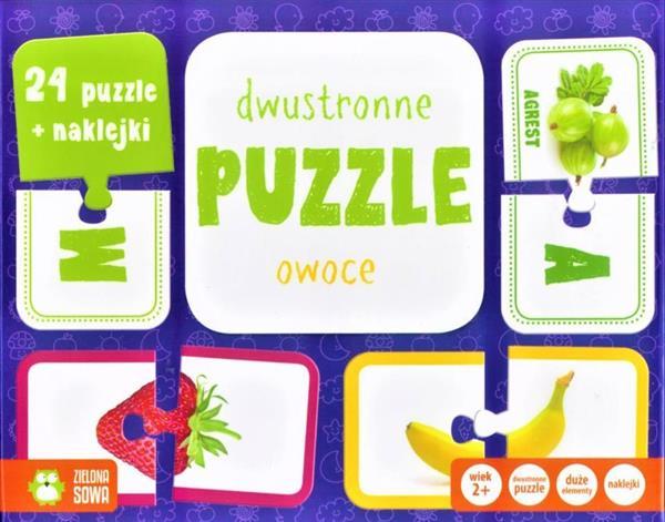 Rosnę i poznaję. Dwustronne puzzle. Owoc NOWE