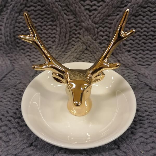 Markowy stojak na biżuterię House złoty jeleń