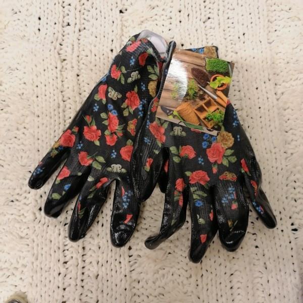 Rękawice ogrodowe M kwiatki