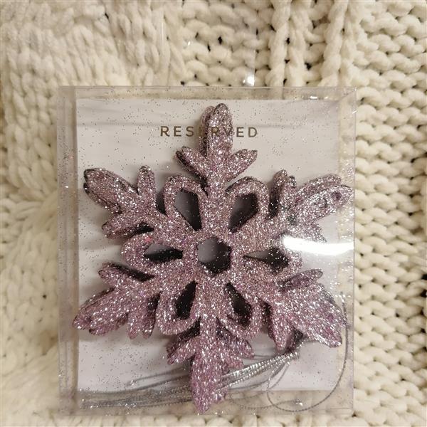 Markowe ozdoby na choinke Reserved fioletowa śneży