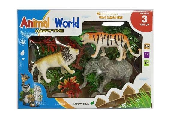 3 zwierzęta + roślinność