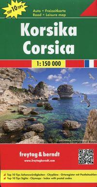 Korsyka Mapa 1:150 000