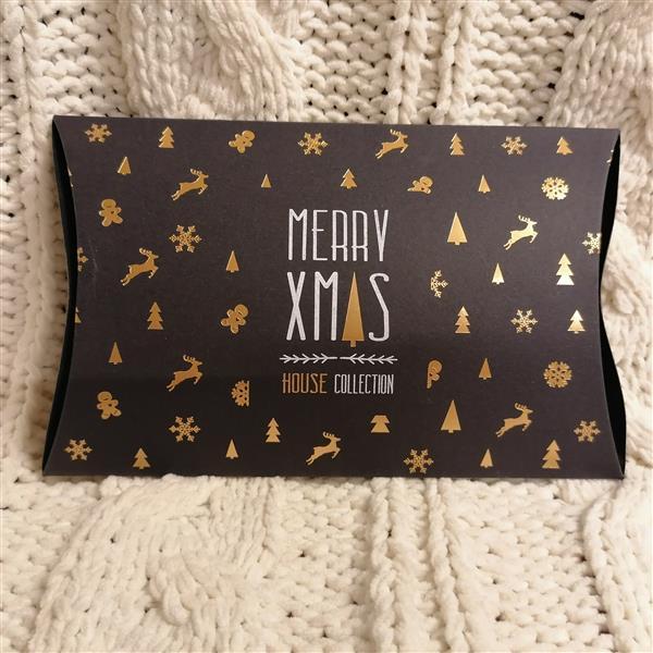 Markowe pudełeczko na prezent House czarne w złote