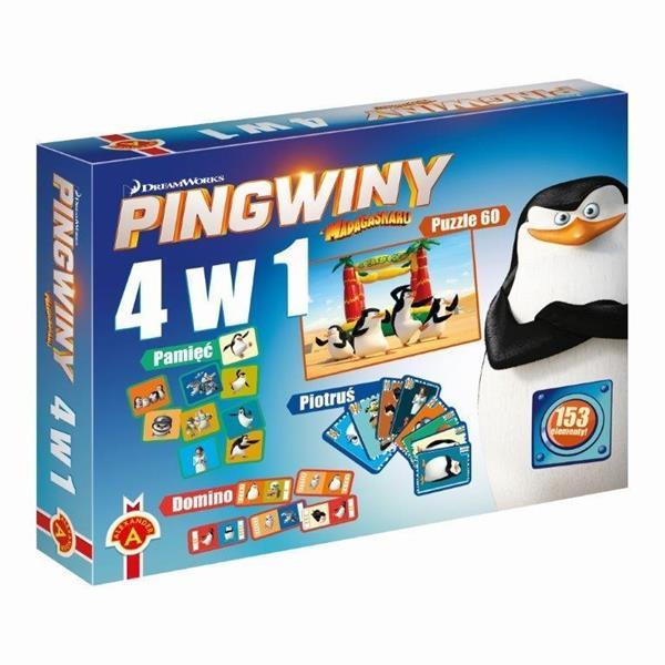 4 w 1 Pingwiny z Madagarskaru
