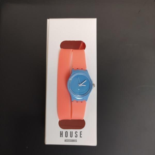 Markowy zegarek HOUSE gumowy, różowy