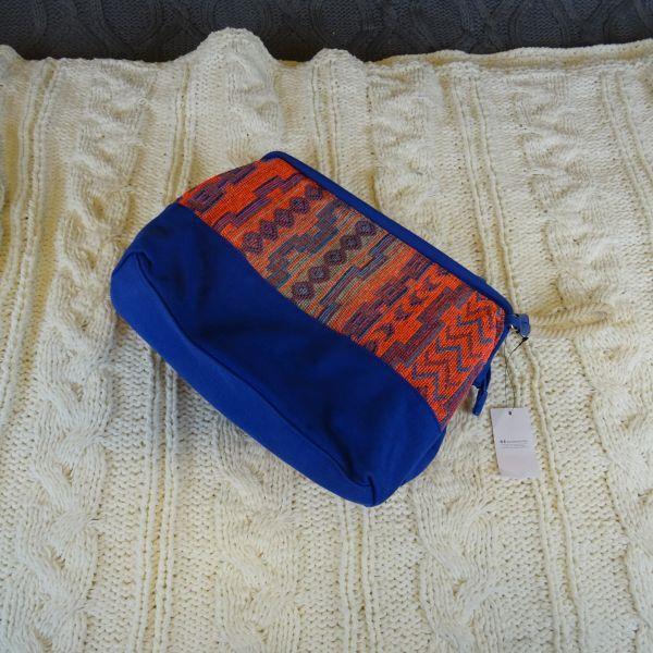 Kosmetyczka damska RESERVED, Niebiesko-pomarańczow