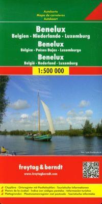 BELGIA HOLANDIA LUKSEMBURG MAPA 1:500 000 outlet