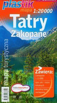 Tatry Zakopane. mapa turystyczna 1:20 000 plastik
