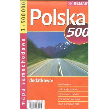 Polska 1:500 - mapa samochodowa Demart
