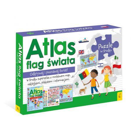 Pakiet: Atlas flag świata/Plakat z mapą/Puzzle