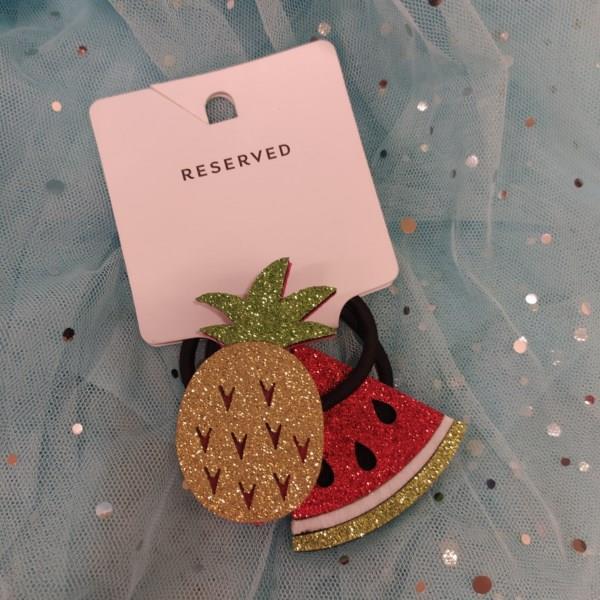 Markowe gumki do włosów Reserved ananas, arbuz