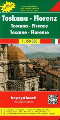 TOSKANIA FLORENCJA MAPA 1:150 000 outlet-9485