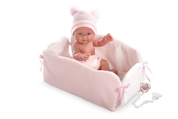 Lalka bobas Bebita w kojcu 26 cm
