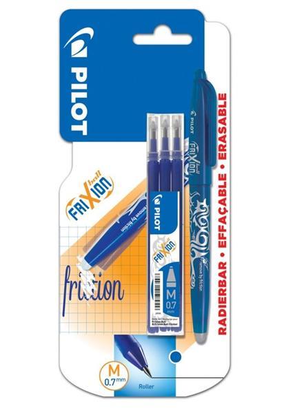 Pióro kulk. FriXion niebieski 0.7 + wkłady PILOT