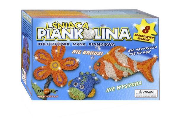 Piankolina lśniąca 8  brokatowych kolorów