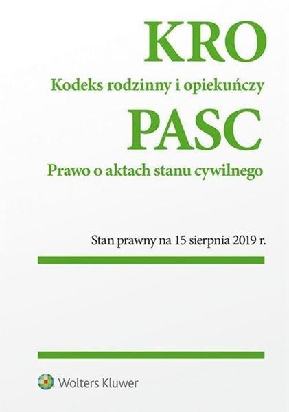 KRO Prawo o aktach stanu cywilnego stan15.08.19