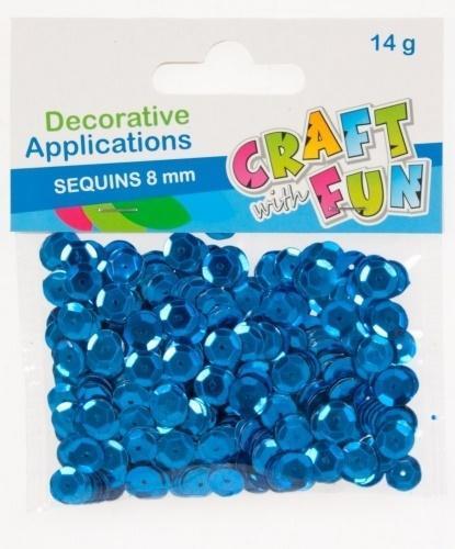 Cekiny metaliczne 8mm niebieski