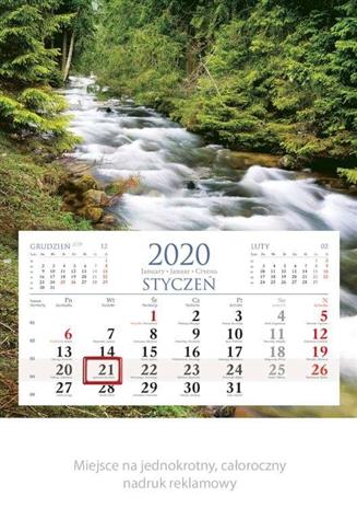 Kalendarz 2020 Jednodzielny Strumień KM02