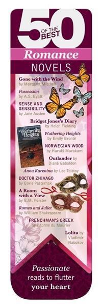 50 BEST - Romance - magnetyczna zakładka do książk