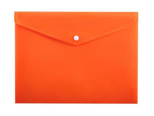 Koperta na zatrzask A4 PP-113 pomarańczowa PENMATE
