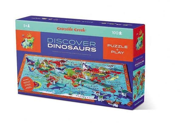 Puzzle 100 el.- Dinozaury