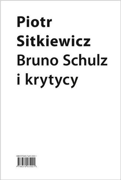 Bruno Schulz i krytycy