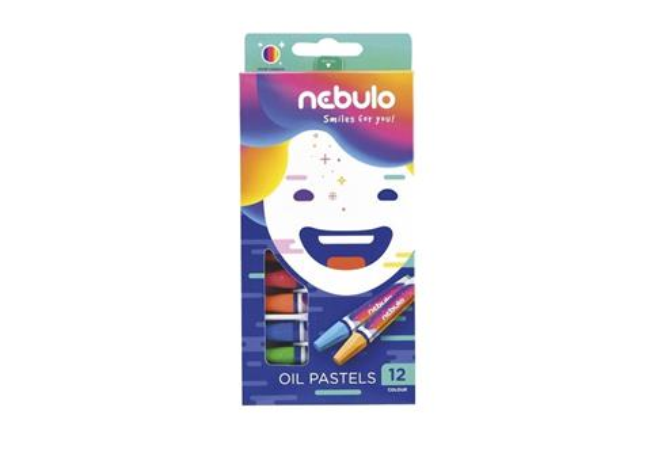 Pastele olejne 12 kolorów NEBULO