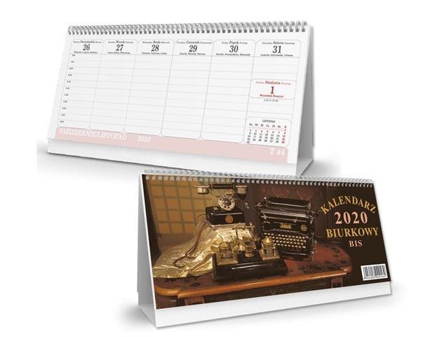 Kalendarz 2020 biurkowy poziomy bis SB2