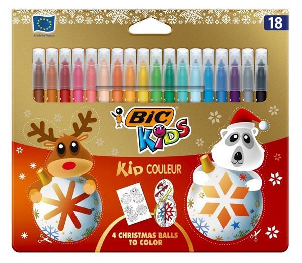 Flamastry Kid Couleur 18 kolorów Christmas BIC