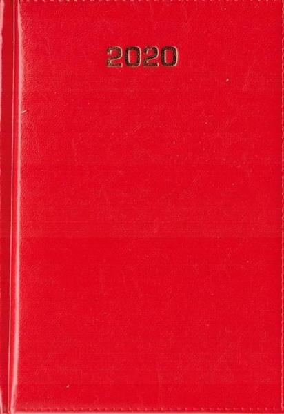 Kalendarz 2020 Dzienny A5 Baladek czerwony ANIEW