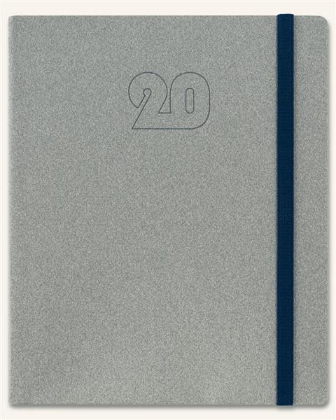 Kalendarz 2020 Książkowy A5 Plus szary melange