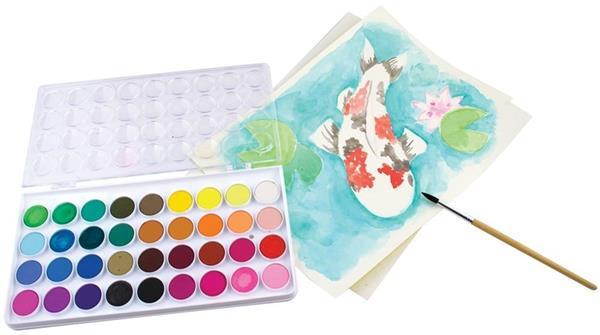 Farby akwarelowe zmywalne 36 kolorów+pędzelek