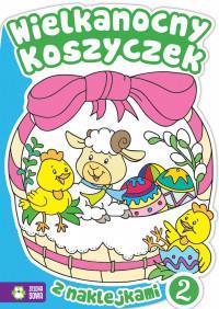 Wielkanocne kolorowanki. Wielkanocny koszyczek 2.