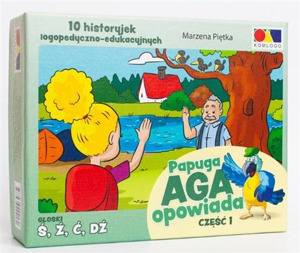 Historyjki obrazkowe. Papuga Aga opowiada cz.1
