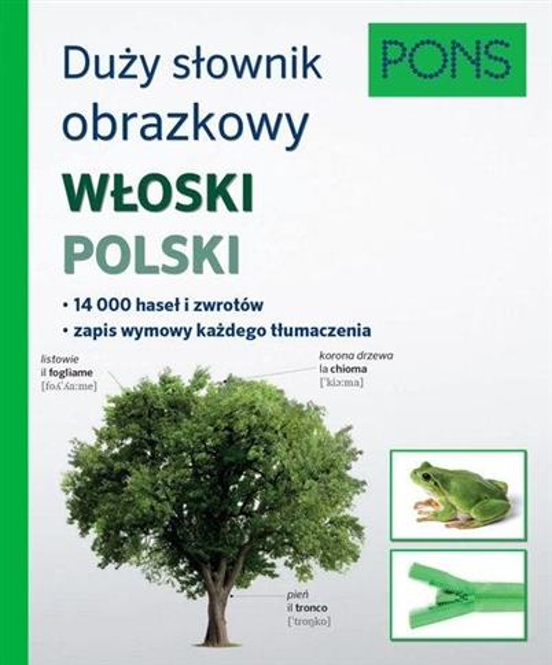 Duży słownik obrazkowy włosko-polski PONS