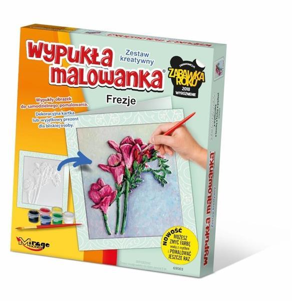 Wypukła Malowanka - Kwiaty Frezje