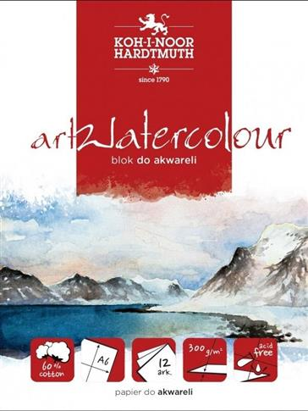 Blok akwarelowy artwatercolour A5 12 kartek 300G.