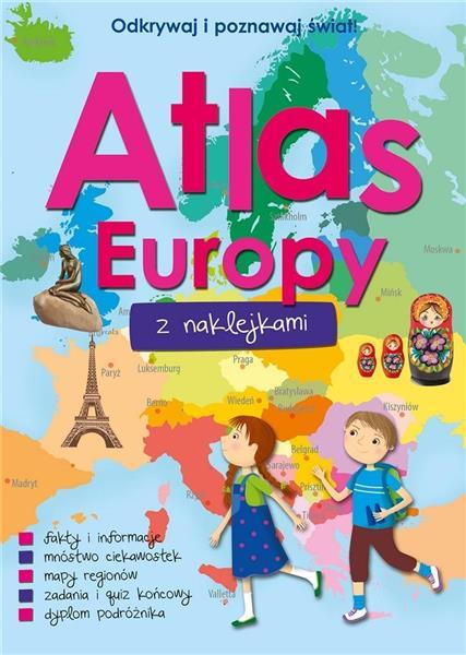 Atlas Europy z naklejkami