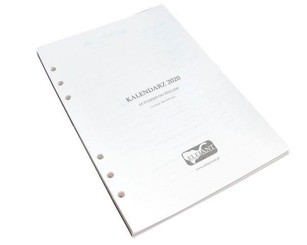 Wkład kalendarzowy A5 2020 tyg. ELEFANT