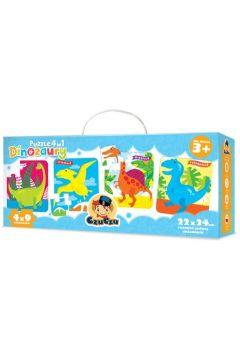 CzuCzu Puzzle 4w1 Dinozaury