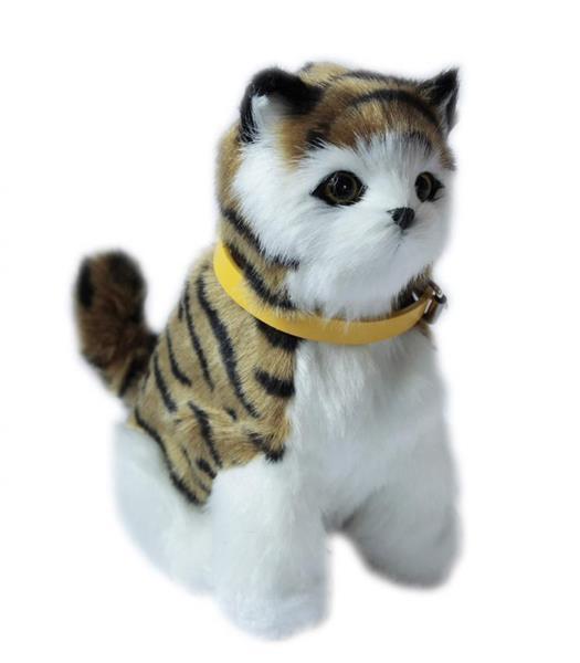 Interaktywny kotek - ciemno brązowy pręgowany