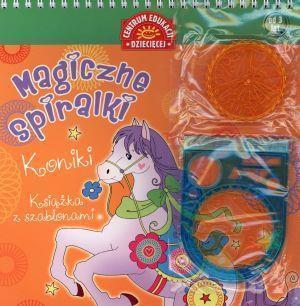 Książka z szablonami. Magiczne spiralki. Koniki