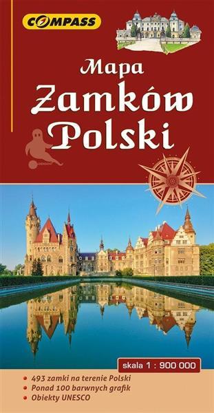 Mapa turystyczna - Zamków Polski